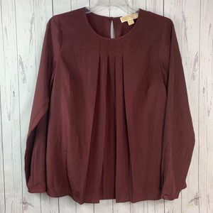 Michael Kors blouse women's small Maroon